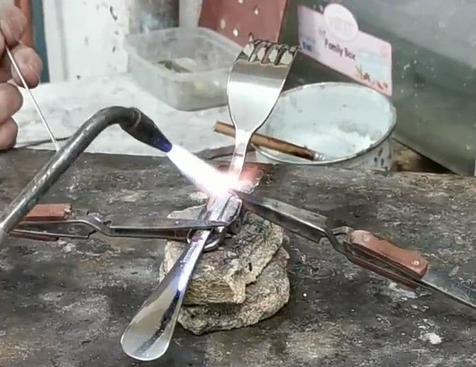 Metallic Fork