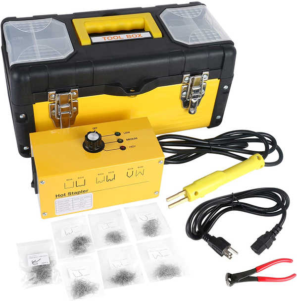 BELEY Car Bumper Repair Plastic Welder Kit, 110V Hot Stapler Plastic Welding Hot Staple Gun with 700PCS Staples