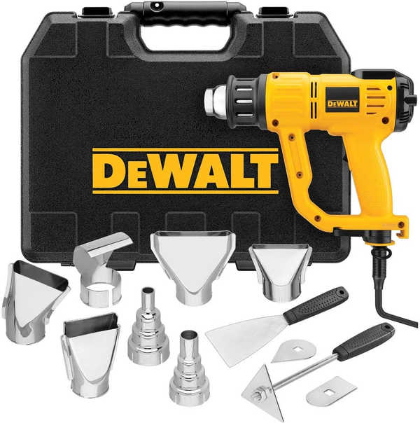 DEWALT Heat Gun with LCD Display & Hard Case/Accessory Kit (D26960K),Yellow