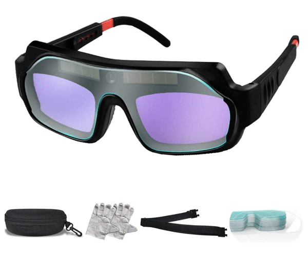 QHRM Solar Auto-Dimming Welding Glasses