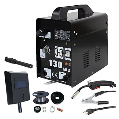 ZENY MIG130 Gas-Less Flux Core Wire Automatic Feed Welder
